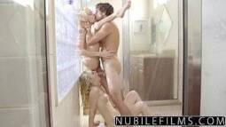 Porno tub safado comendo duas garotas no banho