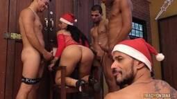 Transas quentes de vários homens e uma gostosa