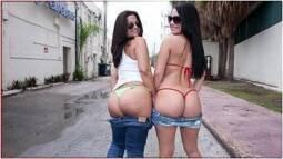 Muito sexo com duas latinas boazudas